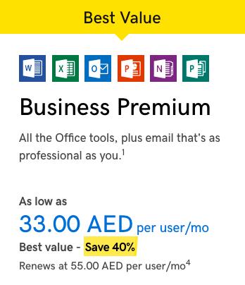 Microsoft Office 365 from GoDaddy